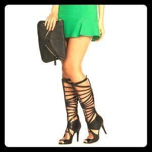 Just Fab Open Toe Gladiator Heels- Madelina